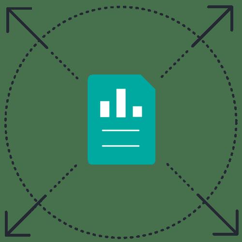 Document charts outward arrows