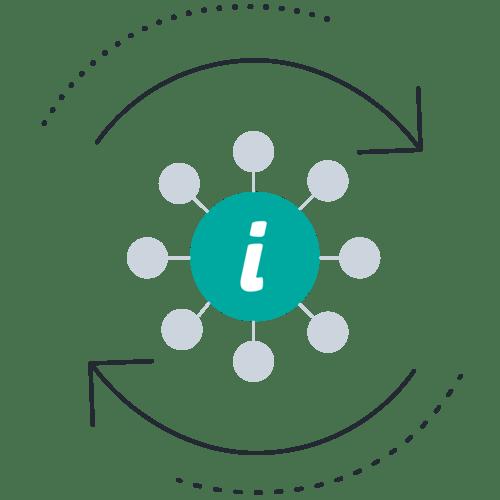 Information circles arrows