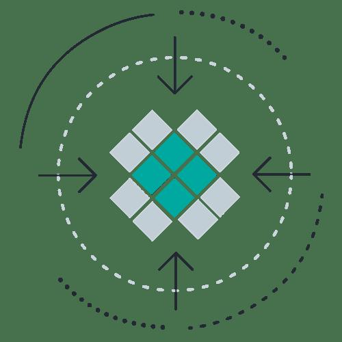 Square group inward arrows