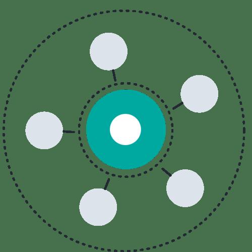 Circle inside circle ring