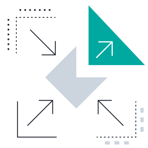 Triangle Segment Outward Arrow