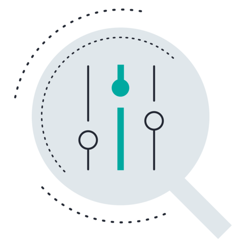 Mixer slider magnifying glass