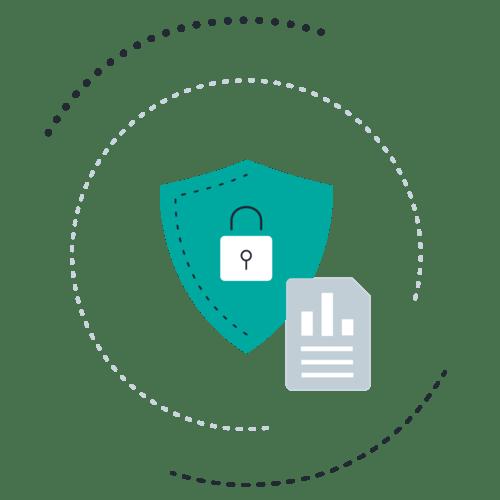 Padlock shield document chart