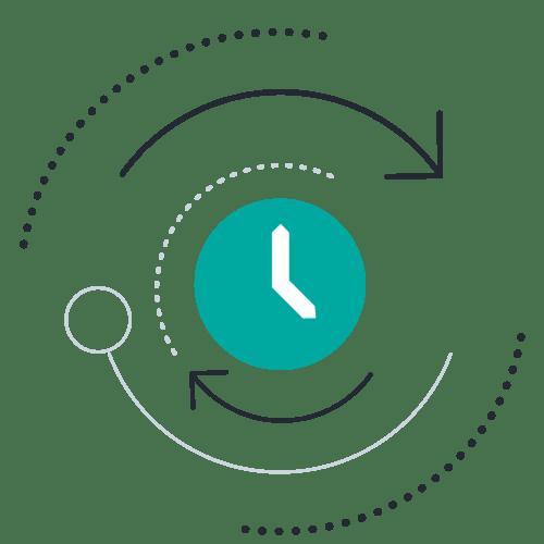 Clock circle arrow
